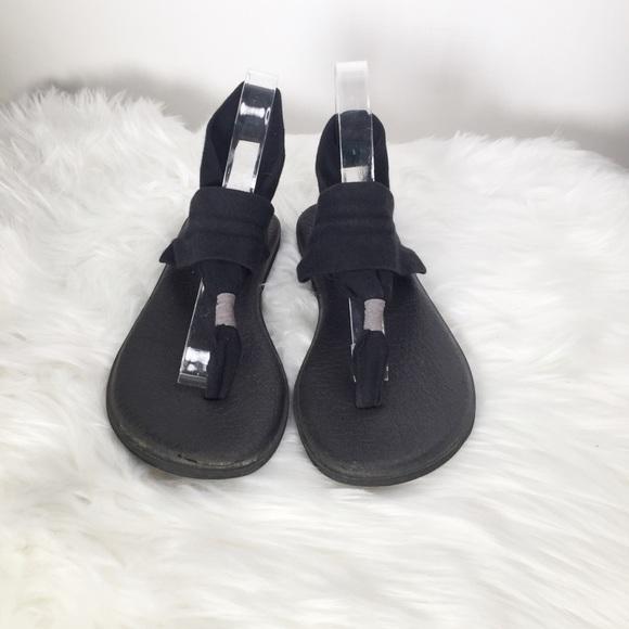 Sanuk Sandals Black Size 40